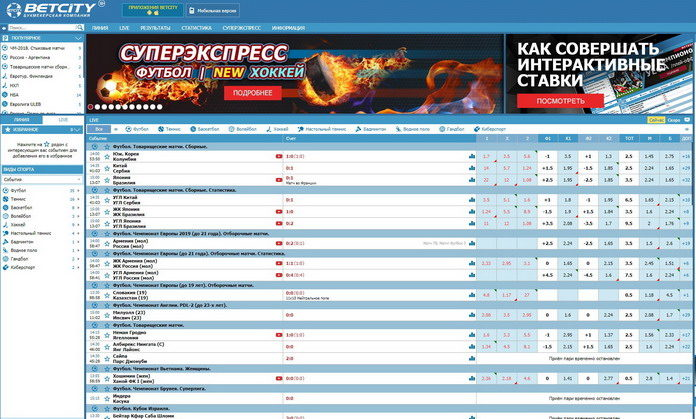 Легальный российский букмекер Бетсити
